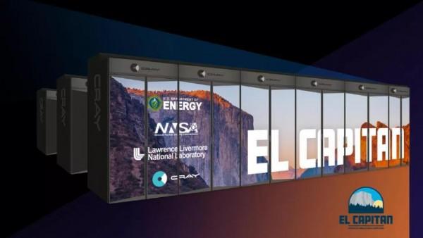 美国开建第三套E级超算El Capitan:150亿亿次性能