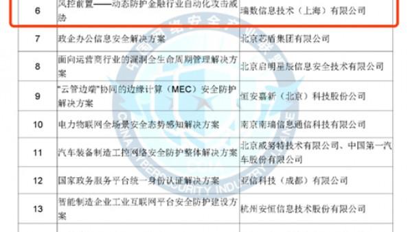 """瑞数信息斩获CCIA""""2020年网络安全解决方案优秀奖"""""""